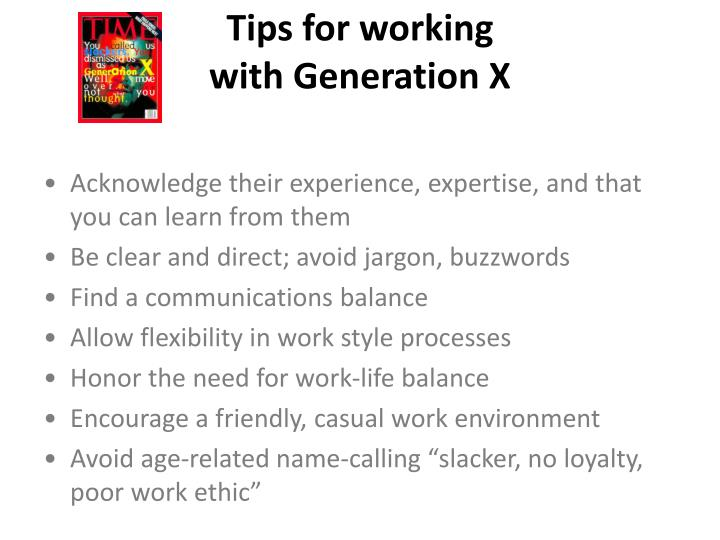 Tips for working