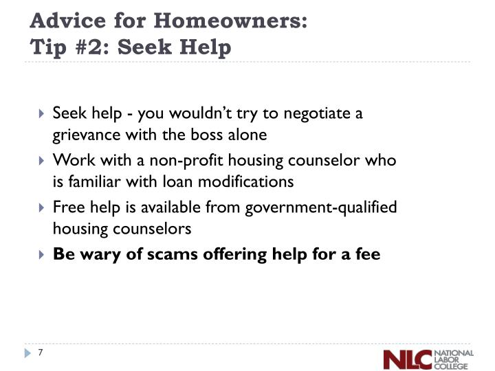 Advice for Homeowners: