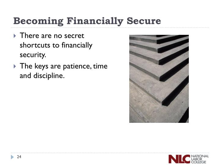 Becoming Financially Secure