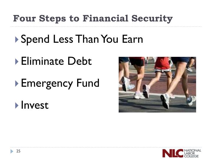 Four Steps to Financial Security