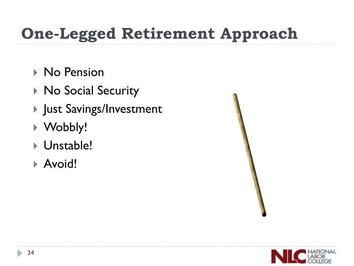 One-Legged Retirement Approach