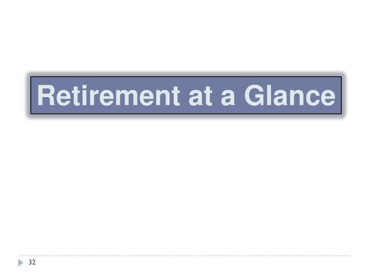 Retirement at a Glance