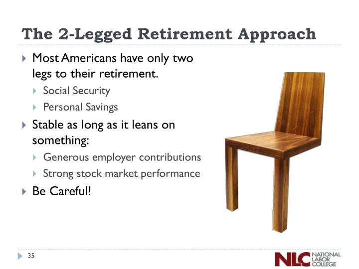 The 2-Legged Retirement Approach