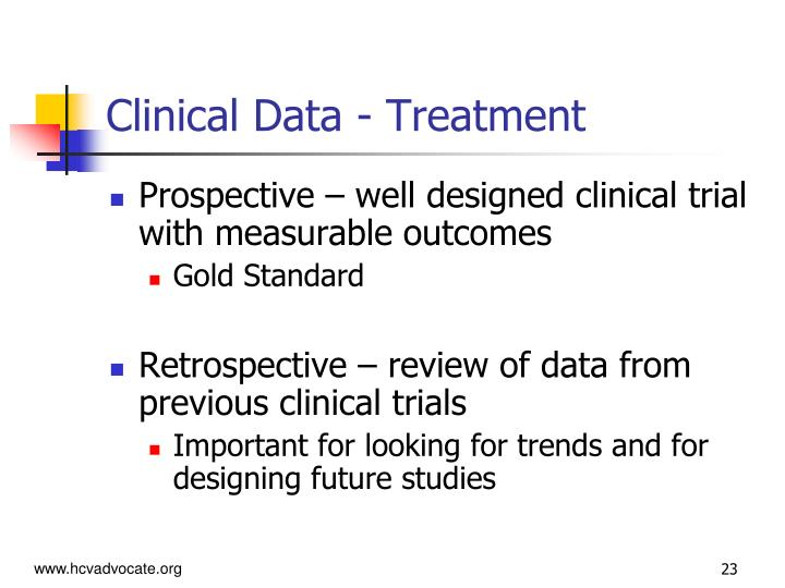 Clinical Data - Treatment