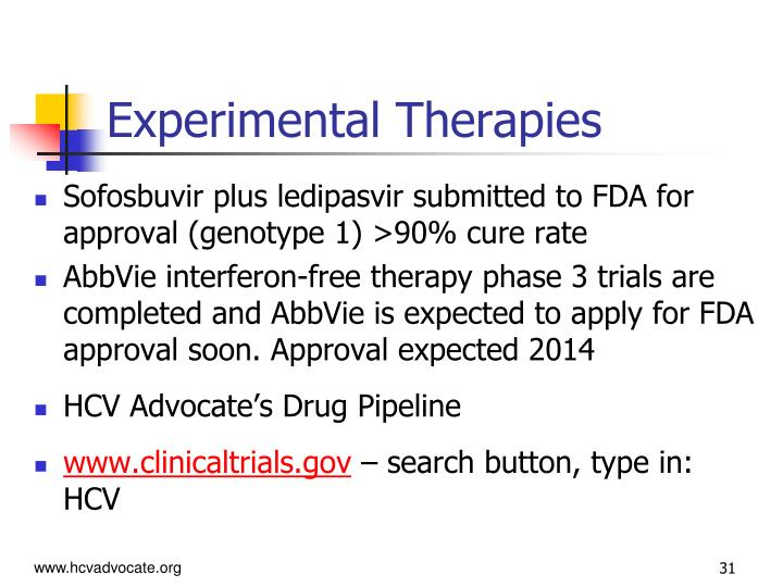 Experimental Therapies