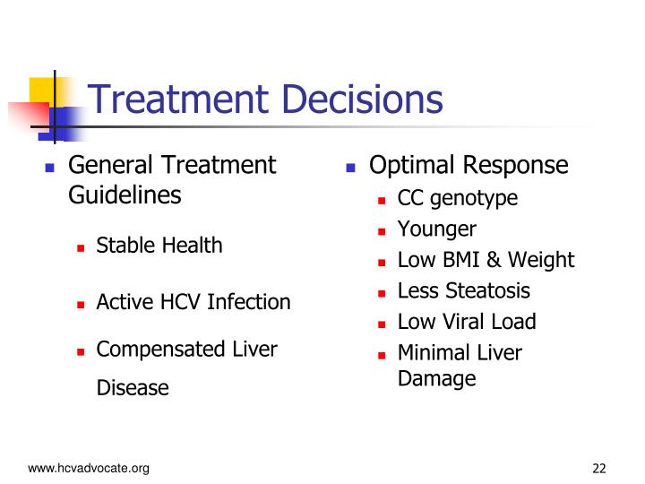 General Treatment Guidelines