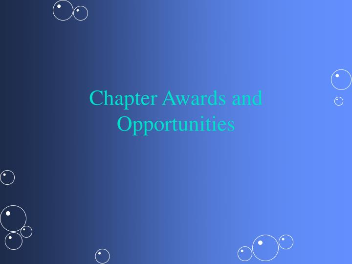 chapter awards and opportunities n.