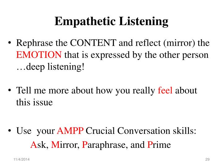 Empathetic Listening