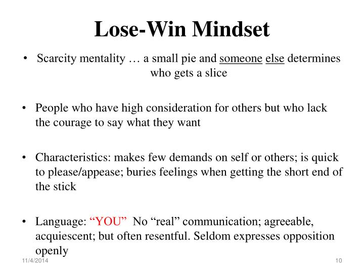 Lose-Win Mindset