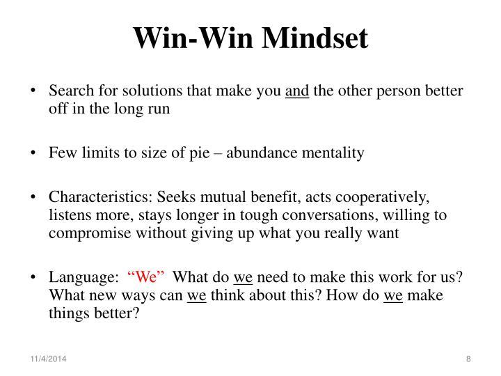 Win-Win Mindset