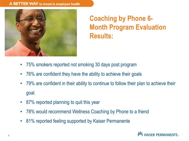 Coaching by Phone 6-Month Program Evaluation