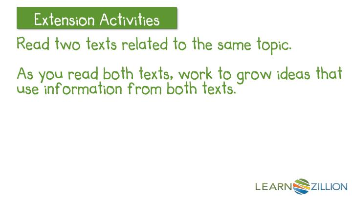 Read two texts related to the same topic.