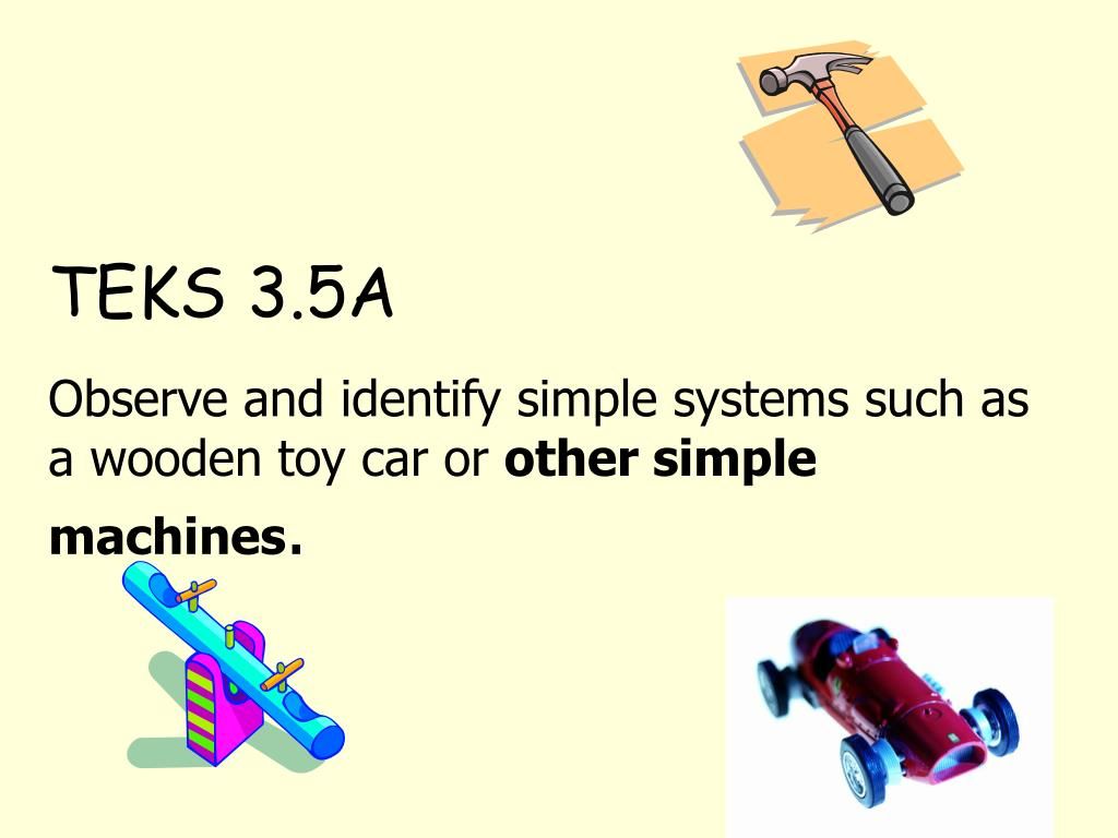 Ppt Teks 3 5a Observe And Identify Simple Systems Such As A Wooden