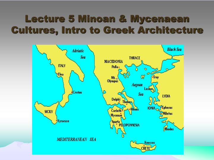 mycenaean civilization sea Minoan culture became a powerful force in the region the mycenaeans (greek people) on islands and the mainland of europe to the north had seen the grandeur of crete they imitated the minoans, especially in their trading activities.
