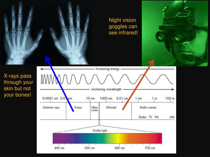Night vision goggles can see infrared!