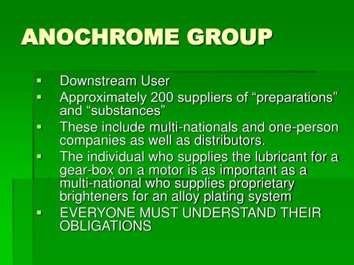 Anochrome group