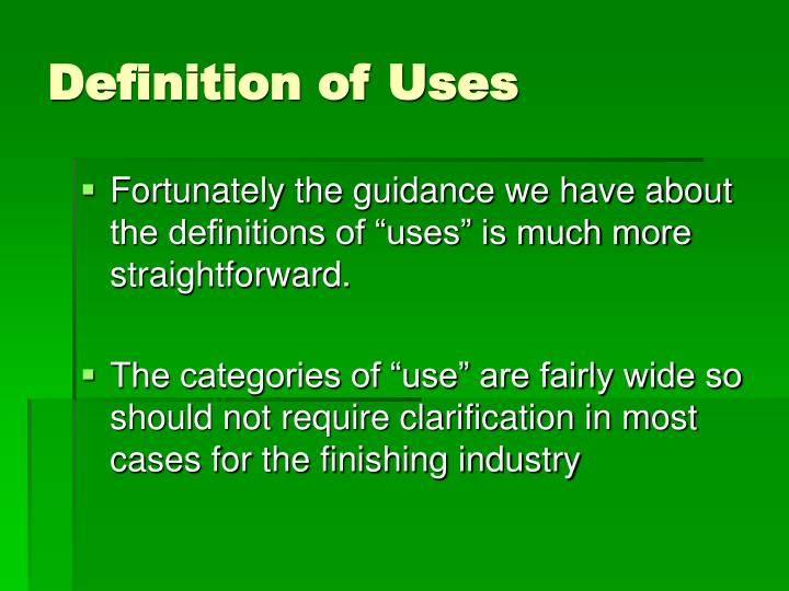 Definition of Uses