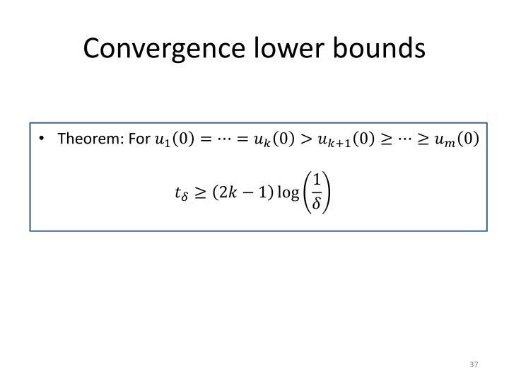 Convergence lower