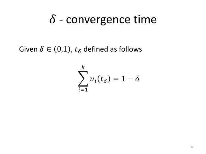 - convergence