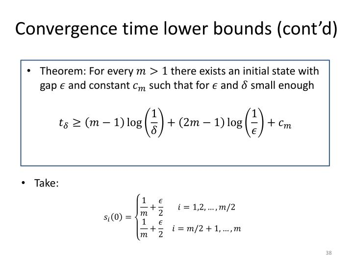 Convergence time lower