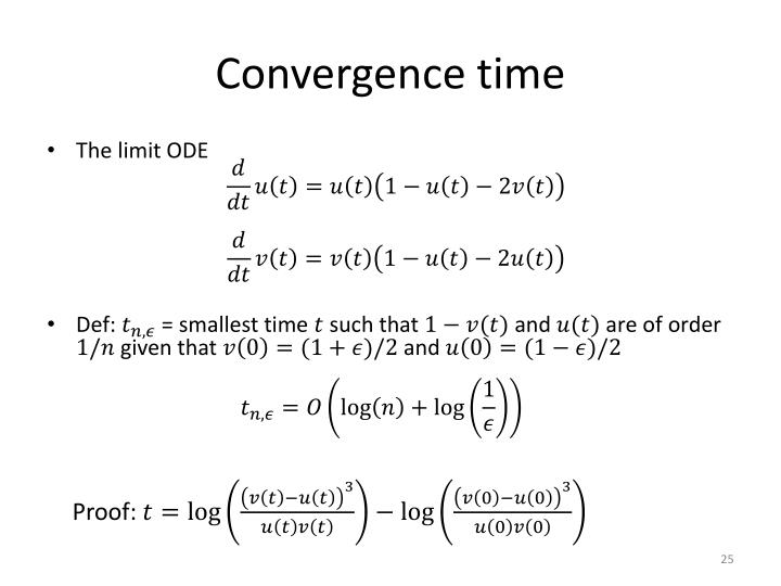 Convergence time