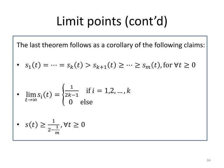 Limit points (cont'd)