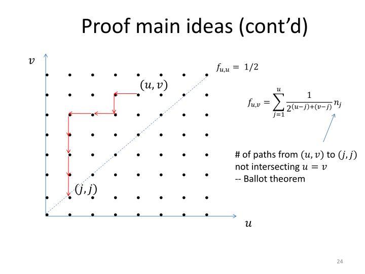 Proof main ideas (cont'd)