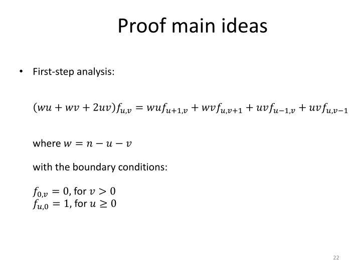 Proof main ideas