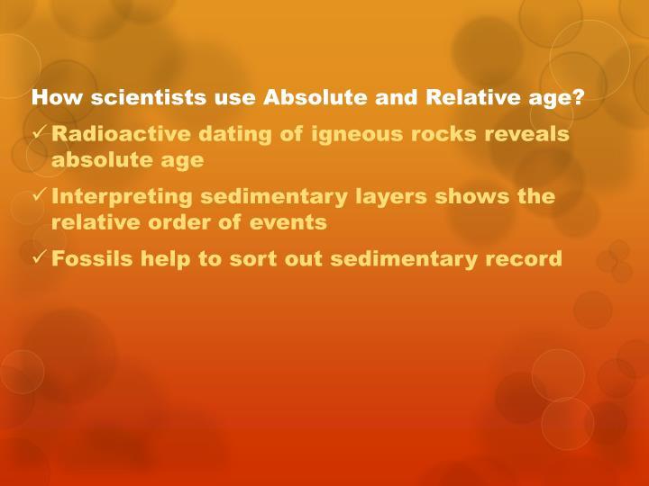 Sedimentary layers radioactive dating