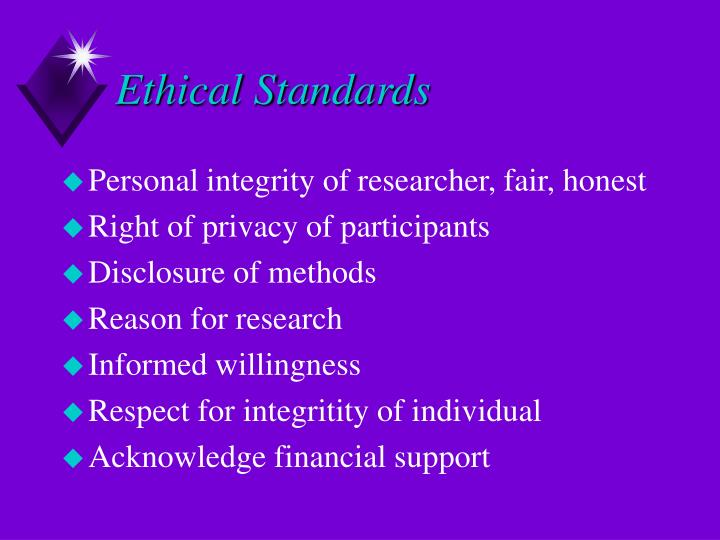 Ethical Standards