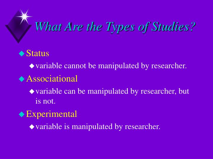What Are the Types of Studies?