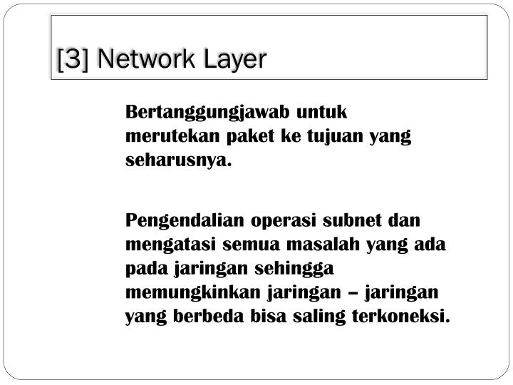 [3] Network Layer