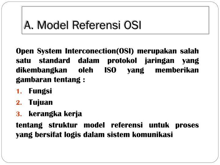 A model referensi osi