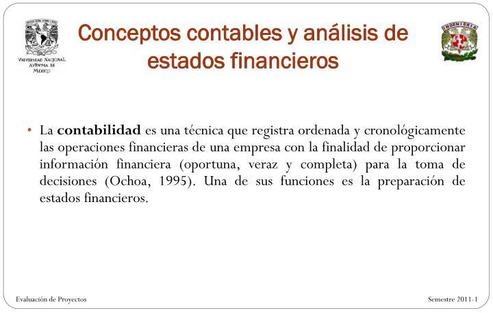 Conceptos contables y análisis de estados financieros