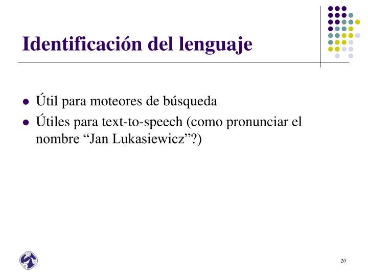 Identificación del lenguaje