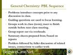 general chemistry pbl sequence