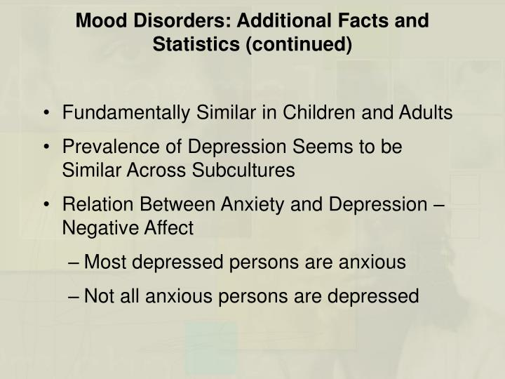 essay questions on mood disorders The two main types of mood disorders known as major depression disorder and bipolar disorder are widespread among the people of today's society teenagers who feel like they don't fit in or adults who are having problems at work or with their family often experience the symptoms of depression.