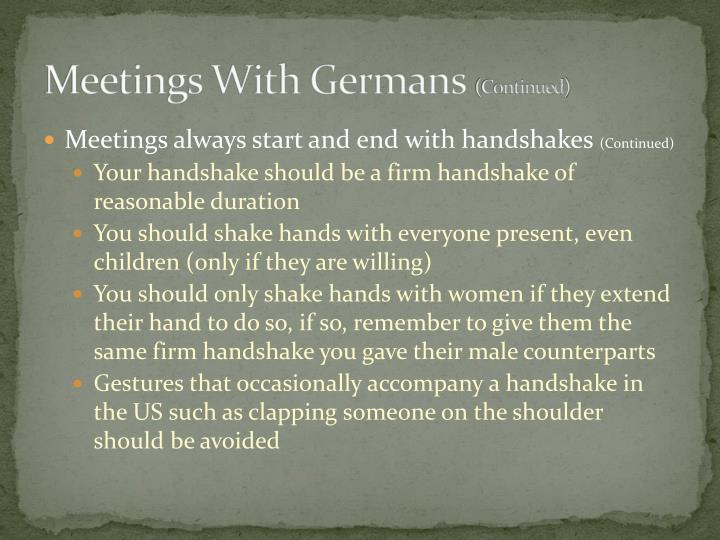 Meetings With Germans