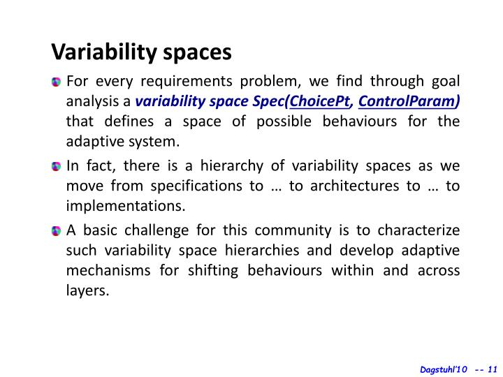 Variability spaces
