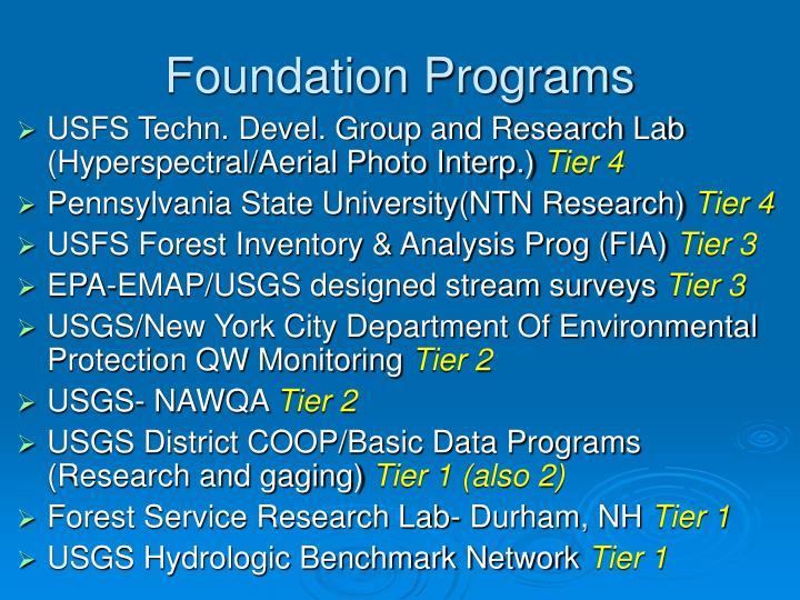 Foundation Programs