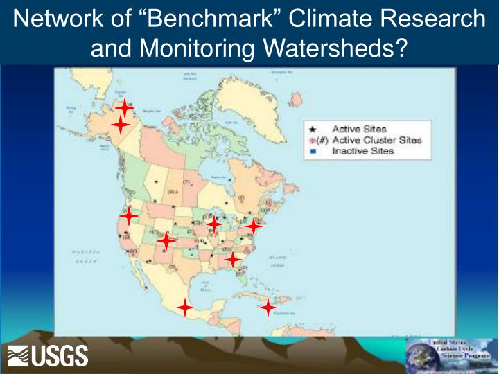 """Network of """"Benchmark"""" Climate Research and Monitoring Watersheds?"""