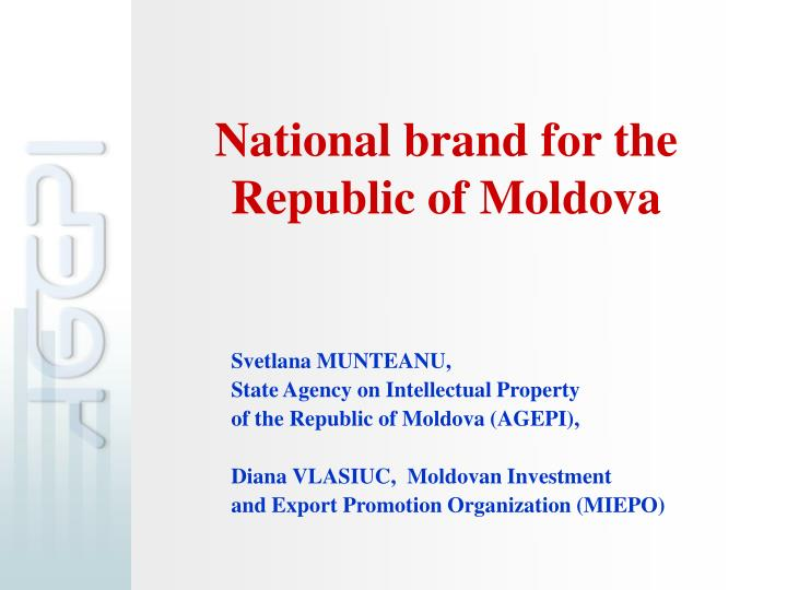 national brand for the republic of moldova n.