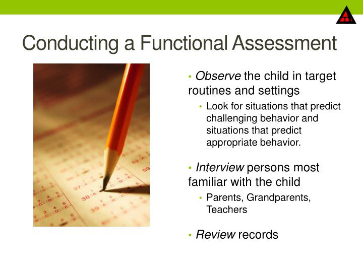 Conducting a Functional Assessment
