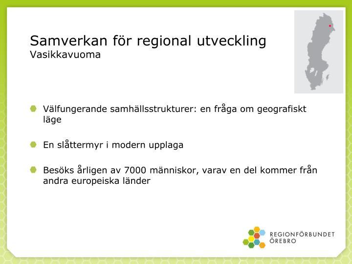 Samverkan för regional utveckling