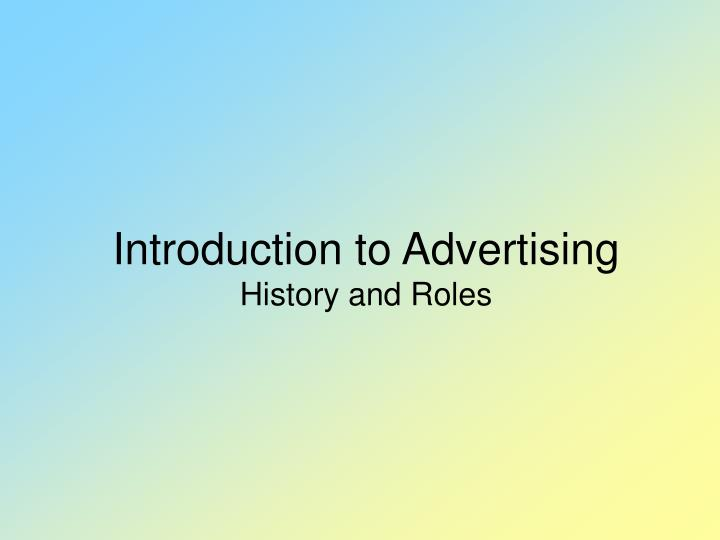 introduction for advertising essay