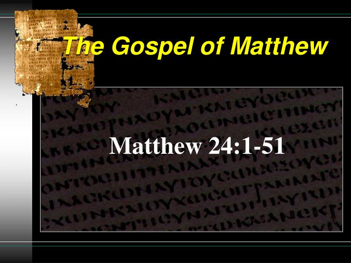 the gospel of matthew n.