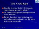 gift knowledge