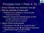 principles from 1 peter 4 10 11