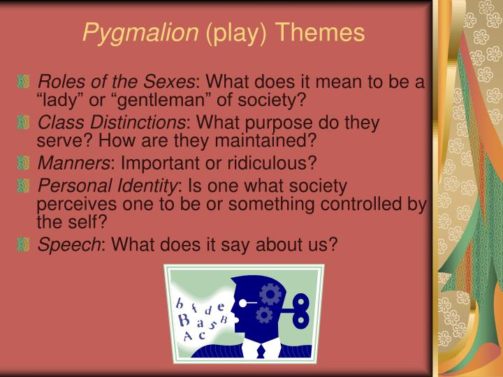 class distinictions in pygmalion essay An analysis of class and gender conflict in pygmalion essay - pygmalion is a serious analysis of class and gender conflict bernard shaw's play, entitled pygmalion, transcends the nature of drama as a medium to be utilized for sheer entertainment value.