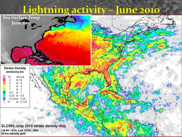 Lightning activity – June 2010